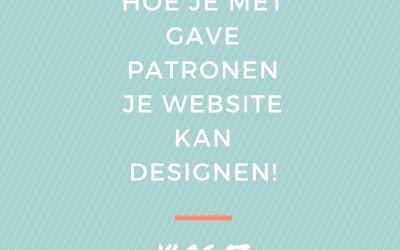 Hoe je met gave patronen je website kan designen! | Vlog 53